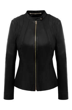 Женская кожаная куртка ESCADA черного цвета, арт. 5033443 | Фото 1