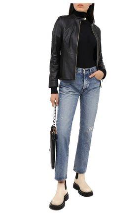 Женская кожаная куртка ESCADA черного цвета, арт. 5033443 | Фото 2