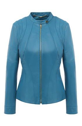 Женская кожаная куртка ESCADA синего цвета, арт. 5033443 | Фото 1