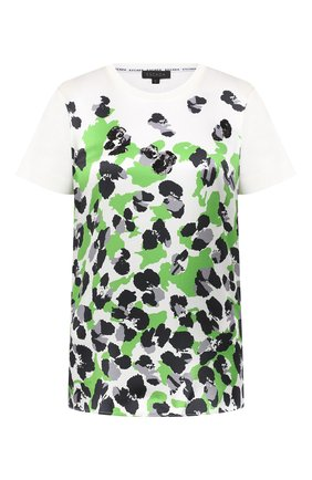Женская хлопковая футболка ESCADA белого цвета, арт. 5033449 | Фото 1