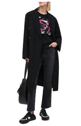 Женский хлопковый свитшот ESCADA черного цвета, арт. 5033450 | Фото 2