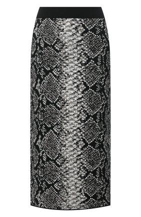 Женская юбка из вискозы ESCADA SPORT серого цвета, арт. 5033452 | Фото 1