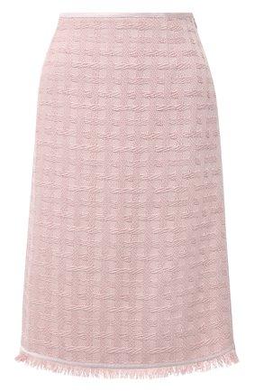 Женская хлопковая юбка ESCADA розового цвета, арт. 5033636 | Фото 1