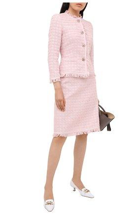 Женская хлопковая юбка ESCADA розового цвета, арт. 5033636 | Фото 2