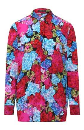 Женская шелковая блузка VERSACE разноцветного цвета, арт. A82662/A235460   Фото 1