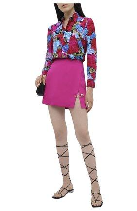 Женская шелковая блузка VERSACE разноцветного цвета, арт. A82662/A235460   Фото 2