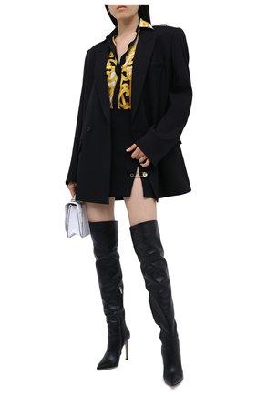 Женская юбка из вискозы VERSACE черного цвета, арт. A83920/A208429 | Фото 2