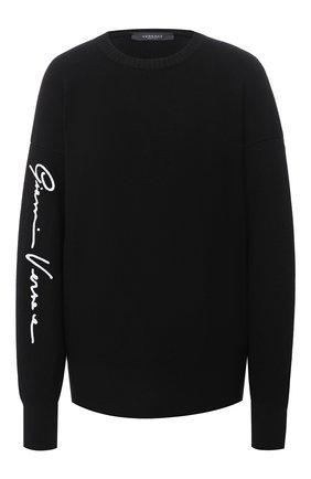 Женский шерстяной свитер VERSACE черного цвета, арт. A85042/A235836 | Фото 1