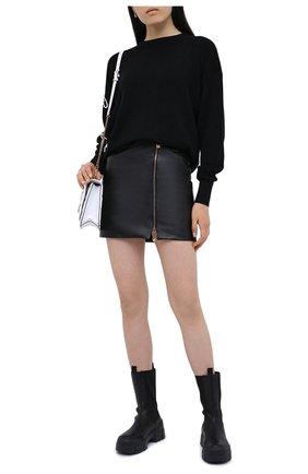 Женский шерстяной свитер VERSACE черного цвета, арт. A85042/A235836 | Фото 2