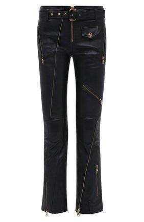 Женские кожаные брюки VERSACE черного цвета, арт. A87442/A210037 | Фото 1