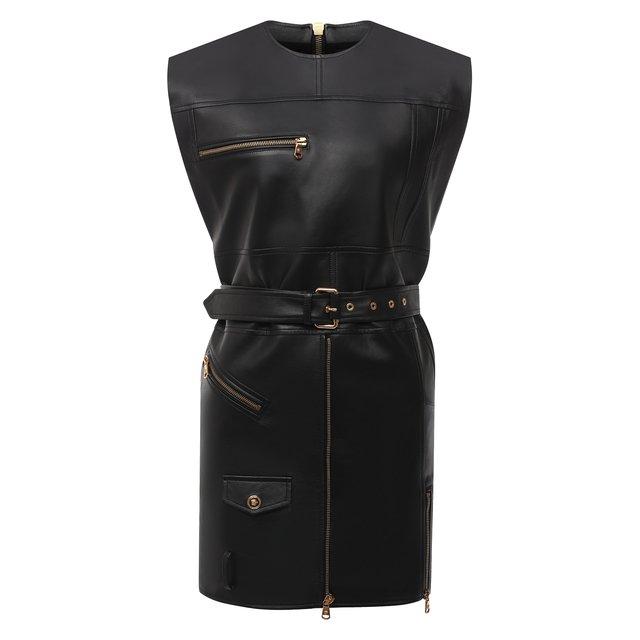 Кожаное платье Versace