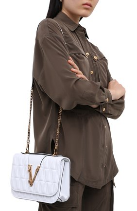 Женская сумка virtus VERSACE белого цвета, арт. DBFG985/DNATR4 | Фото 2