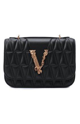 Женская сумка virtus VERSACE черного цвета, арт. DBFG985/DNATR4 | Фото 1