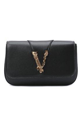 Женская сумка virtus VERSACE черного цвета, арт. DBFH209/D5VIT | Фото 1