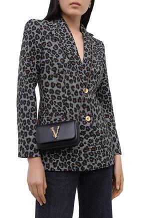 Женская сумка virtus VERSACE черного цвета, арт. DBFH209/D5VIT | Фото 2