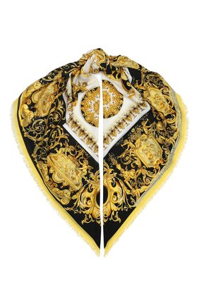 Женский платок из шерсти и шелка VERSACE разноцветного цвета, арт. IF01401/A236221 | Фото 1