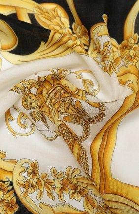 Женский платок из шерсти и шелка VERSACE разноцветного цвета, арт. IF01401/A236221 | Фото 2