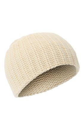 Женский кашемировая шапка SAINT LAURENT кремвого цвета, арт. 629100/3Y205 | Фото 1