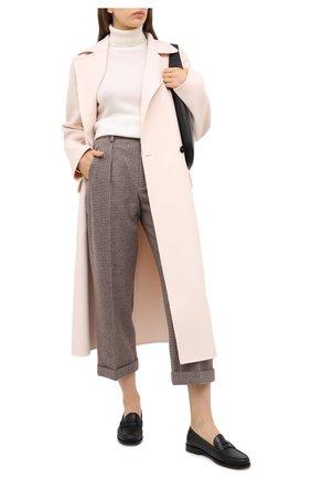 Женские шерстяные брюки SAINT LAURENT коричневого цвета, арт. 627259/Y3B47 | Фото 2