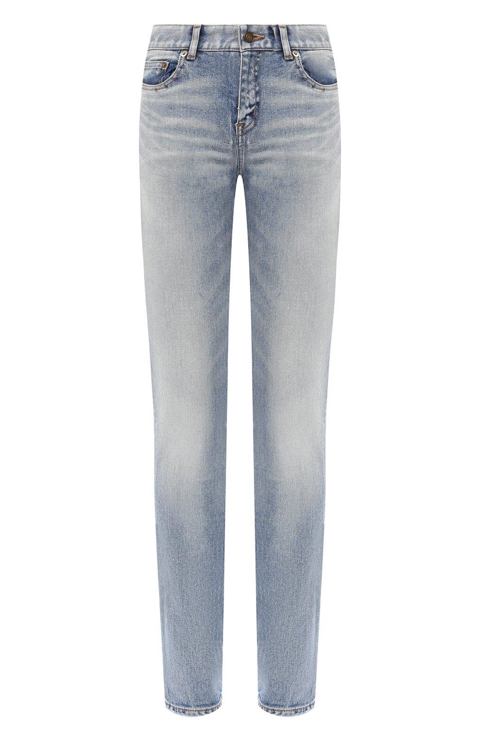 Женские джинсы SAINT LAURENT синего цвета, арт. 614447/Y507X   Фото 1