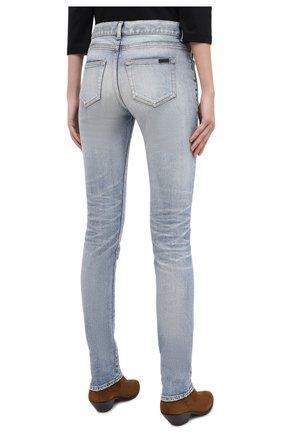 Женские джинсы SAINT LAURENT синего цвета, арт. 614447/Y507X   Фото 5