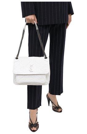 Женская сумка niki medium SAINT LAURENT белого цвета, арт. 498894/0EN04 | Фото 2