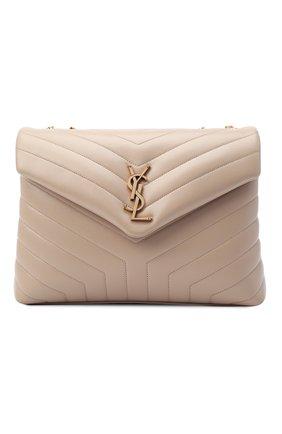 Женская сумка monogram loulou medium SAINT LAURENT бежевого цвета, арт. 574946/DV727 | Фото 1
