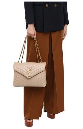 Женская сумка monogram loulou medium SAINT LAURENT бежевого цвета, арт. 574946/DV727 | Фото 2