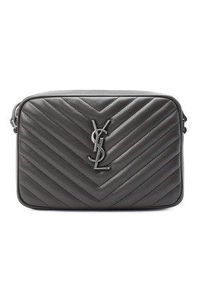 Женская сумка lou medium SAINT LAURENT серого цвета, арт. 612544/DV704 | Фото 1 (Ремень/цепочка: На ремешке; Материал: Натуральная кожа; Сумки-технические: Сумки через плечо; Размер: medium)