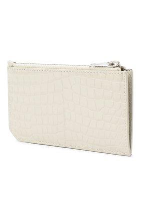 Женский кожаный футляр для кредитных карт SAINT LAURENT белого цвета, арт. 631992/DND0N | Фото 2