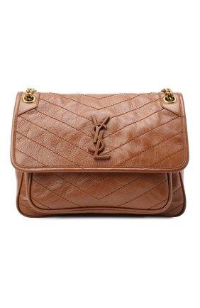 Женская сумка niki medium SAINT LAURENT коричневого цвета, арт. 633158/1YG07 | Фото 1