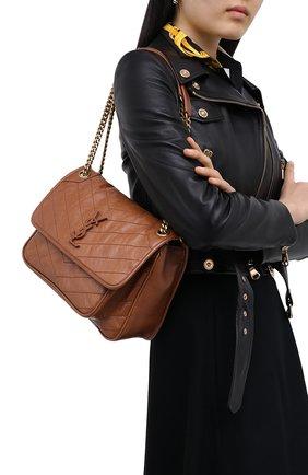 Женская сумка niki medium SAINT LAURENT коричневого цвета, арт. 633158/1YG07 | Фото 2