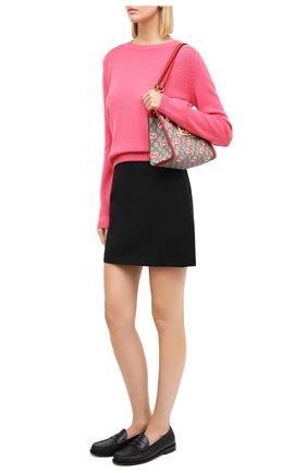 Женский кашемировый свитер GUCCI розового цвета, арт. 628413/XKBB2   Фото 2