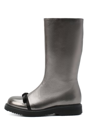 Детские кожаные сапоги MONTELPARE TRADITION серого цвета, арт. MT14164/TENDER/28-35   Фото 2