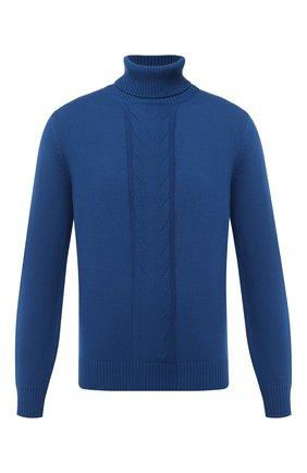 Мужской кашемировый свитер FIORONI синего цвета, арт. MK21024D1 | Фото 1