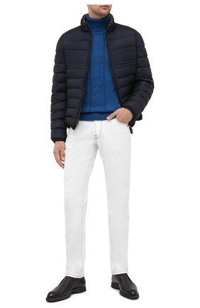 Мужской кашемировый свитер FIORONI синего цвета, арт. MK21024D1 | Фото 2