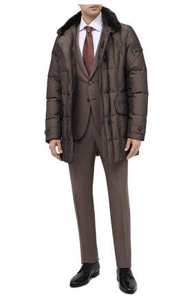 Мужские кожаные дерби SANTONI черного цвета, арт. MCLE16204SI1ESCSN01   Фото 2