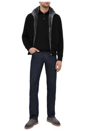Мужское шерстяное поло FEDELI черного цвета, арт. 3UI07129   Фото 2