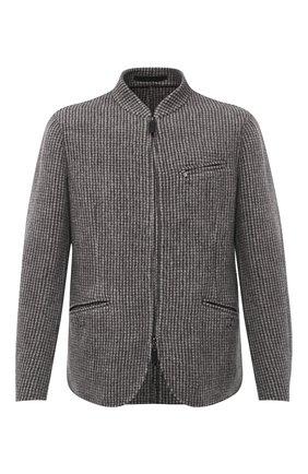 Мужской кашемировый пиджак GIORGIO ARMANI бежевого цвета, арт. 0WGGG0I9/T01ZZ | Фото 1