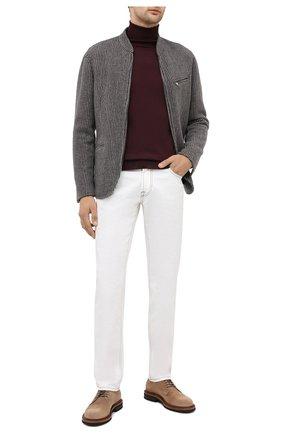 Мужской кашемировый пиджак GIORGIO ARMANI бежевого цвета, арт. 0WGGG0I9/T01ZZ | Фото 2