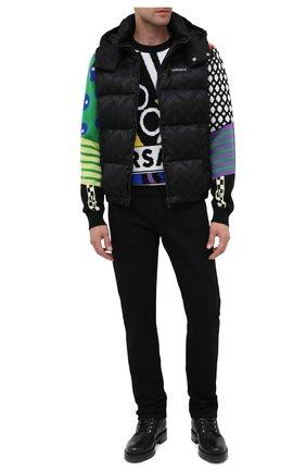 Мужской шерстяной свитер VERSACE разноцветного цвета, арт. A86458/A235937 | Фото 2
