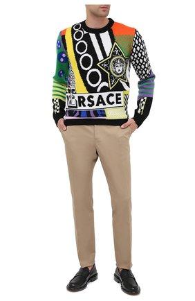Мужской шерстяной свитер VERSACE разноцветного цвета, арт. A86458/A235937 | Фото 3