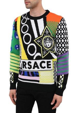 Мужской шерстяной свитер VERSACE разноцветного цвета, арт. A86458/A235937 | Фото 4