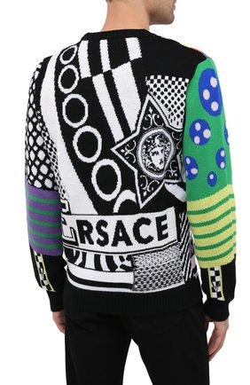 Мужской шерстяной свитер VERSACE разноцветного цвета, арт. A86458/A235937 | Фото 5