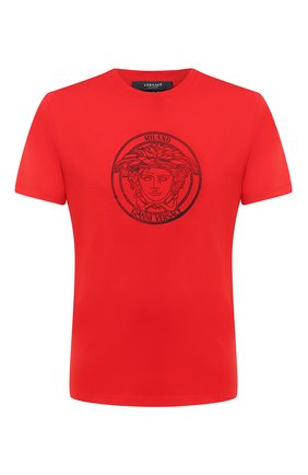 Мужская хлопковая футболка VERSACE красного цвета, арт. A87381/A228806 | Фото 1