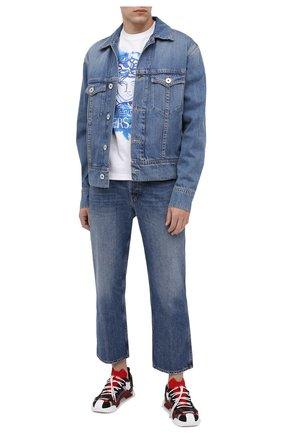 Мужская хлопковая футболка VERSACE белого цвета, арт. A87383/A228806 | Фото 2