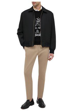 Мужская хлопковая рубашка VERSACE белого цвета, арт. A87411/A232105 | Фото 2