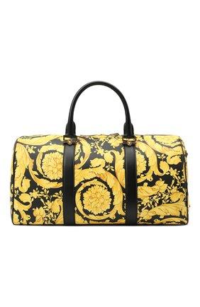Мужская кожаная дорожная сумка VERSACE желтого цвета, арт. DV28068/DVTS26   Фото 1