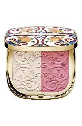 Румяна-хайлайтер для лица solar glow, 1 sweet pink DOLCE & GABBANA бесцветного цвета, арт. 3059050DG | Фото 1