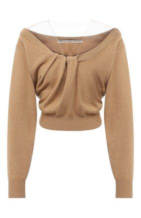 Женская пуловер из шерсти и вискозы ALEXANDER WANG коричневого цвета, арт. 1KC2201003 | Фото 1